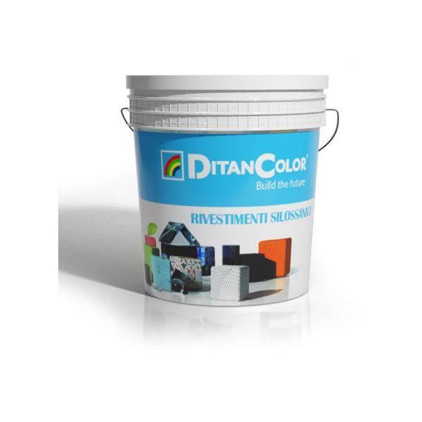ALCANTARA SILOX 1,3 - Rivestimento minerale silossanico a base di colloidi minerali stabilizzati. Grana media