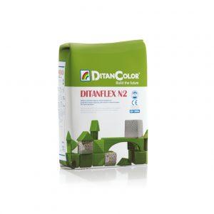 DITANFLEX N2 - Adesivo cementizio migliorato ad alte prestazioni. Per interni ed esterni