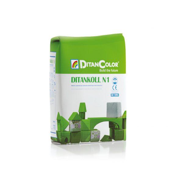 DITANKOLL N1 - Adesivo cementizio per piastrelle ceramiche. Per interni ed esterni