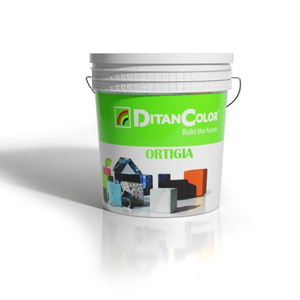 ORTIGIA DECOR - Finitura colorata effetto travertino a base di calce per interni